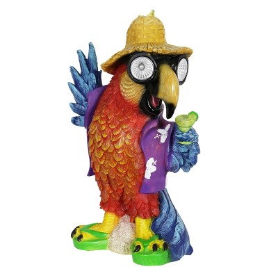 "15"" Resin Solar Parrot Statue - Exhart"