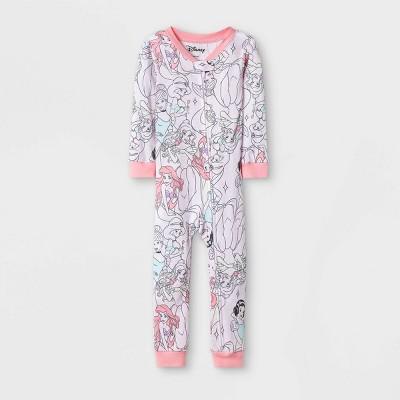 Baby Girls' Disney Princesses Union Suit - Pink 9M