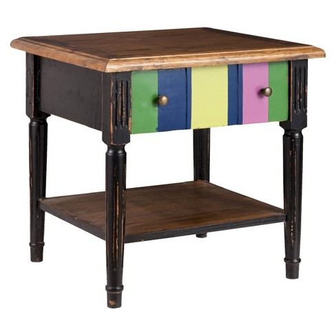 Holloway End Table Distressed Black - Zuo - image 1 of 2