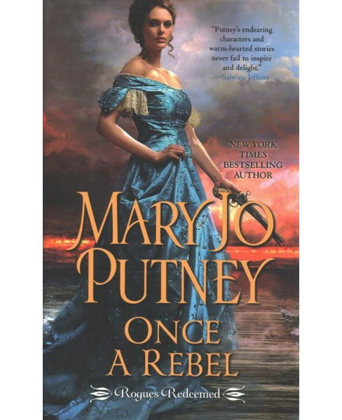 Once a Rebel -  Large Print by Mary Jo Putney (Hardcover) - image 1 of 1