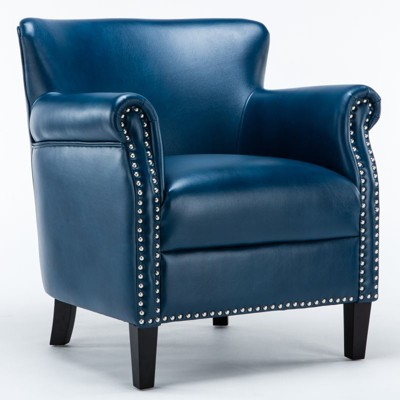 Holly Navy Blue Club Chair - Comfort Pointe