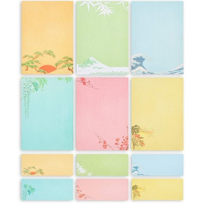 Paper Junkie 60-Pack Japanese Stationery Paper Letter Writing Paper & Envelopes, 7.25 x 10.25 In