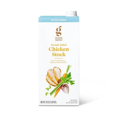 No Salt Added Chicken Stock - 32oz - Good & Gather™