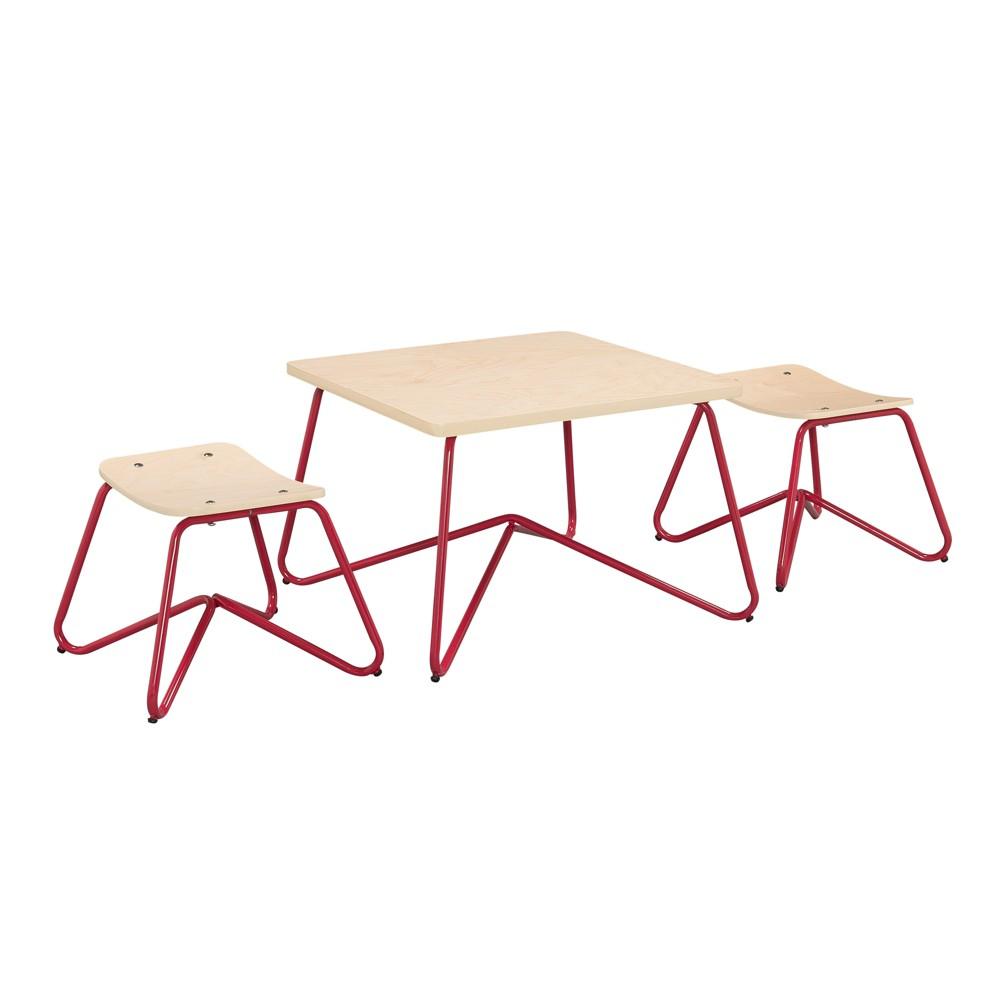 Kellan 3 Piece Table Set - Red - Reservation Seating