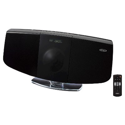 JENSEN Wall Mountable Bluetooth Music System with CD - Black
