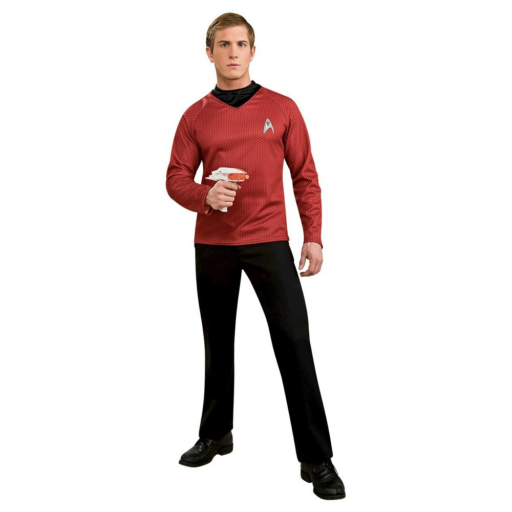 Adult Star Trek Movie Deluxe Shirt Red Halloween Costume Xl