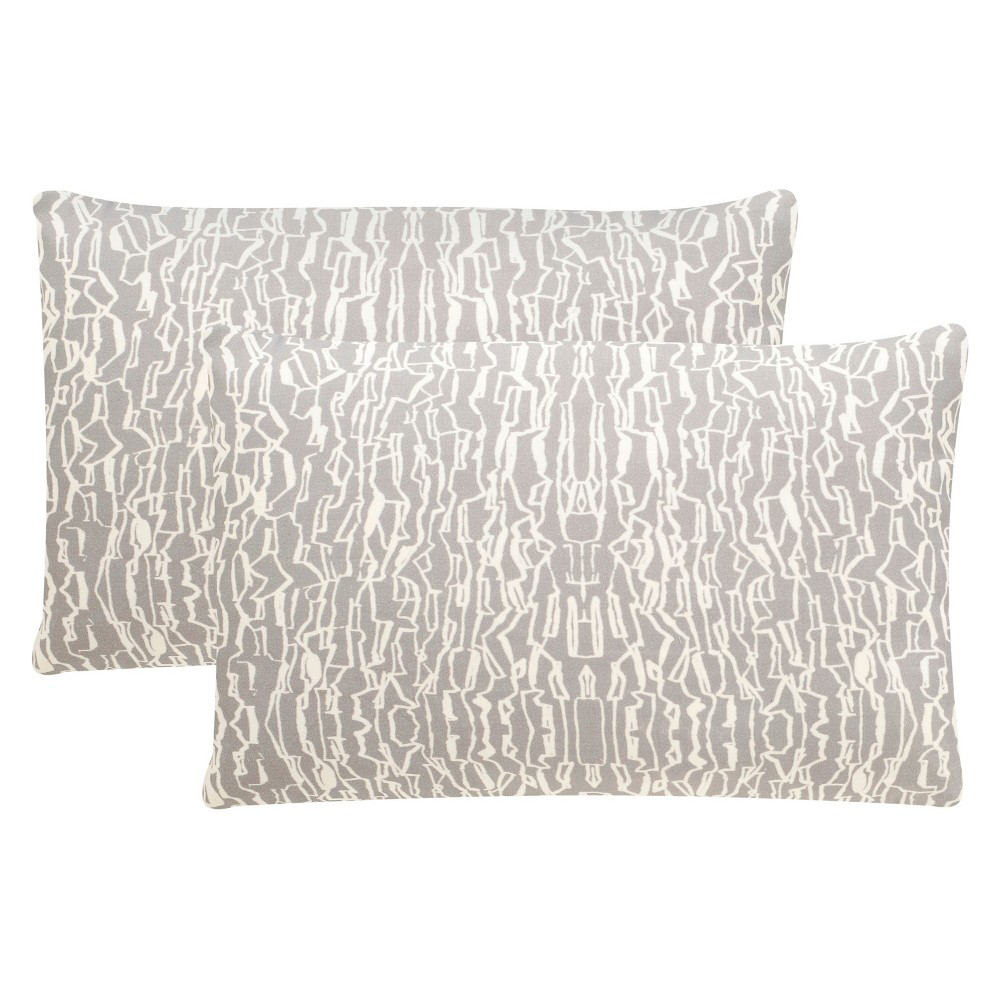Steel (Silver) Techie S/2 Throw Pillow (12