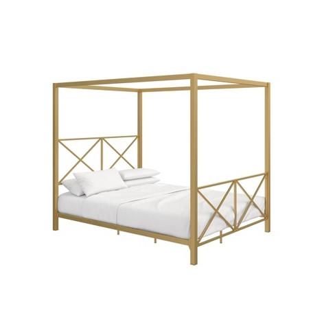 Queen Riley Canopy Bed Gold Room Joy Target