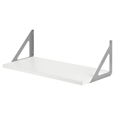 Dolle Lite Shelf Silver TRI Shelf Bracket Set - white