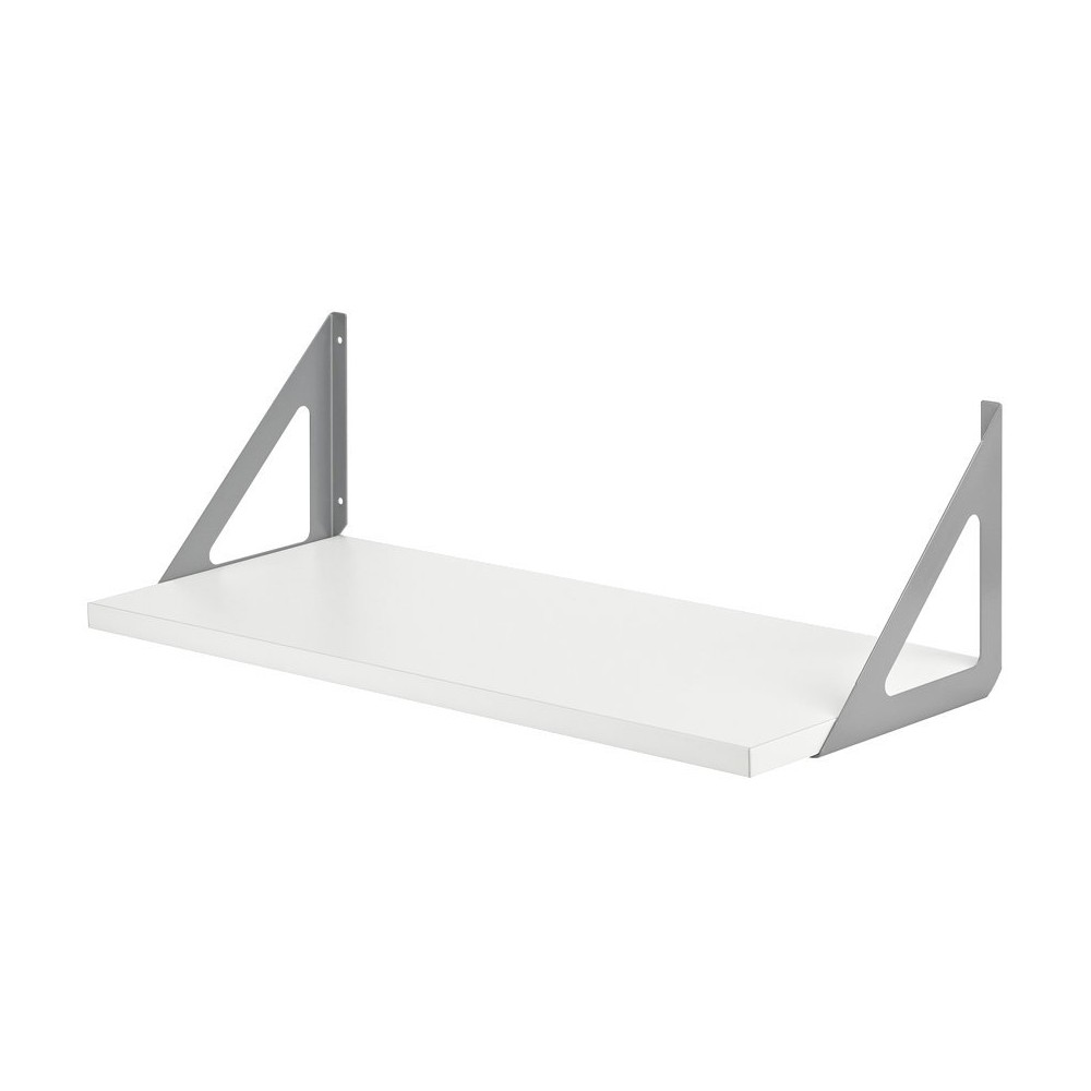 Image of Dolle Lite Shelf Silver Tri Shelf Bracket Set - white