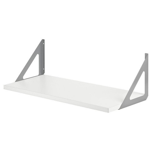 Dolle Lite Shelf Silver TRI Shelf Bracket Set - white - image 1 of 3