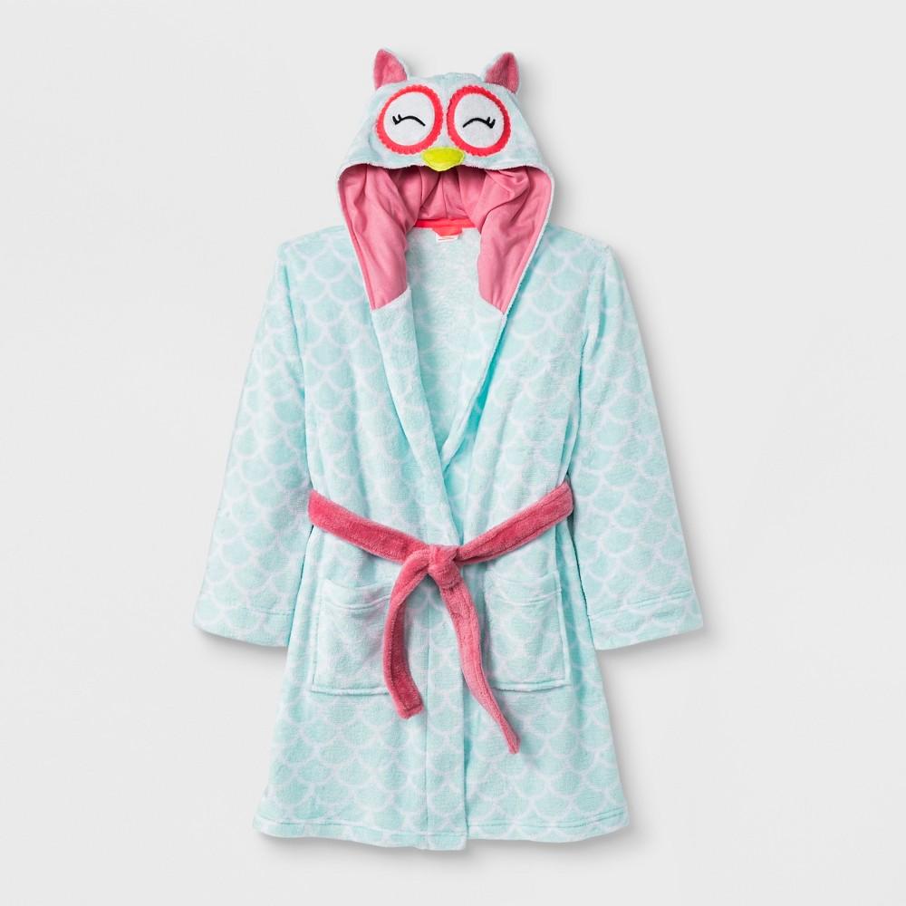 Girls' Owl Robe - Cat & Jack Aqua L, Green