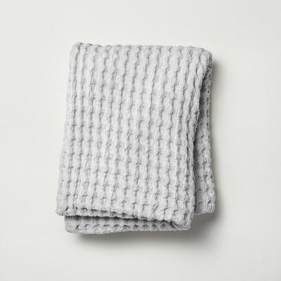 Waffle Body Pillow Cover Light Gray - Casaluna™