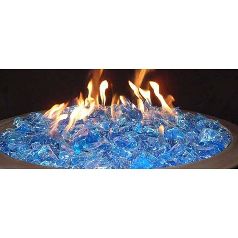 Recycled Fire Pit Fire Glass Turquoise Waters Az Patio Heaters Target