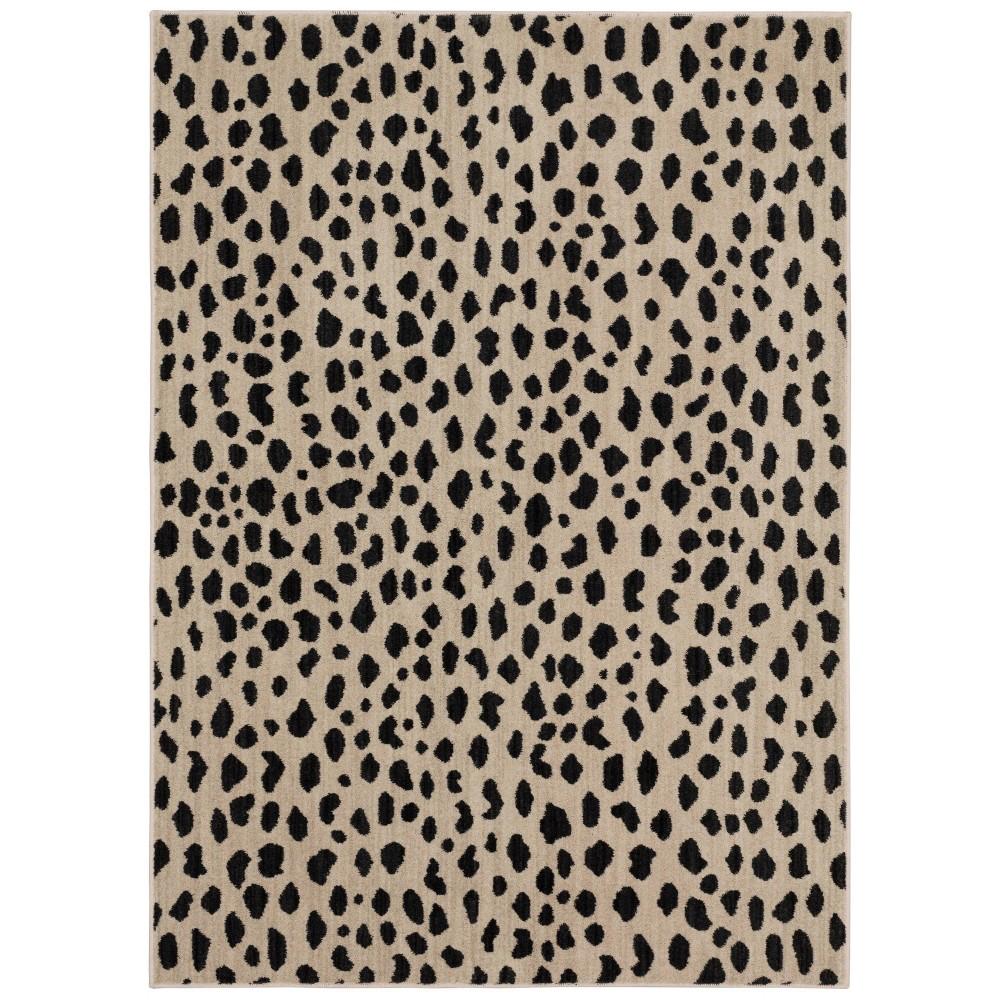 7 39 X10 39 Leopard Spot Woven Area Rug Black White Opalhouse 8482
