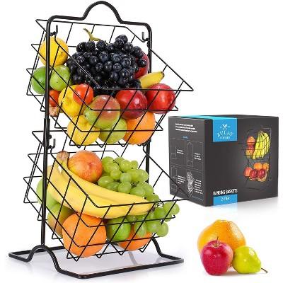 Zulay Kitchen 2 - Tier Metal Fruit Basket