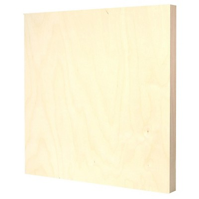 """American Easel Primed Wood Painting Panel, Clear Gesso, 20""""x20"""""""