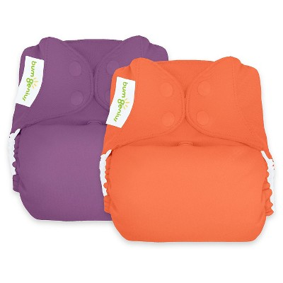 bumGenius Freetime All-In-One One-Size Snap Cloth Diaper 2pk - Jelly/Kiss