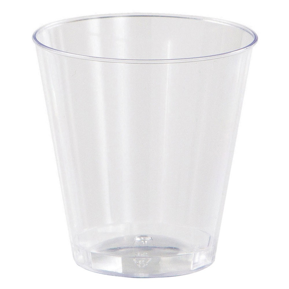 20ct Clear Plastic Shot Glasses