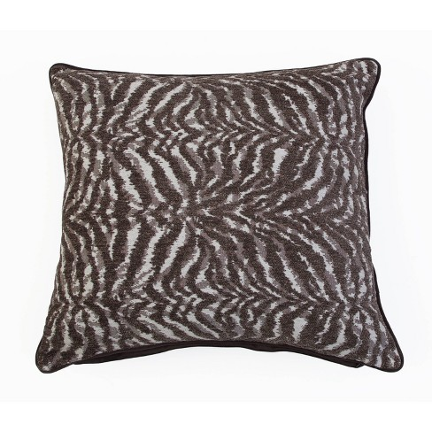 Zana Zebra Chenille Pillow Brown - Dcor Therapy - image 1 of 4