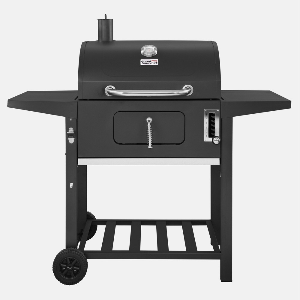 "Image of ""24"""" CD1824A Charcoal Grill with Side Shelves Black - Royal Gourmet"""