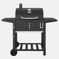 """24"""" CD1824A Charcoal Grill with Side Shelves Black - Royal Gourmet"""