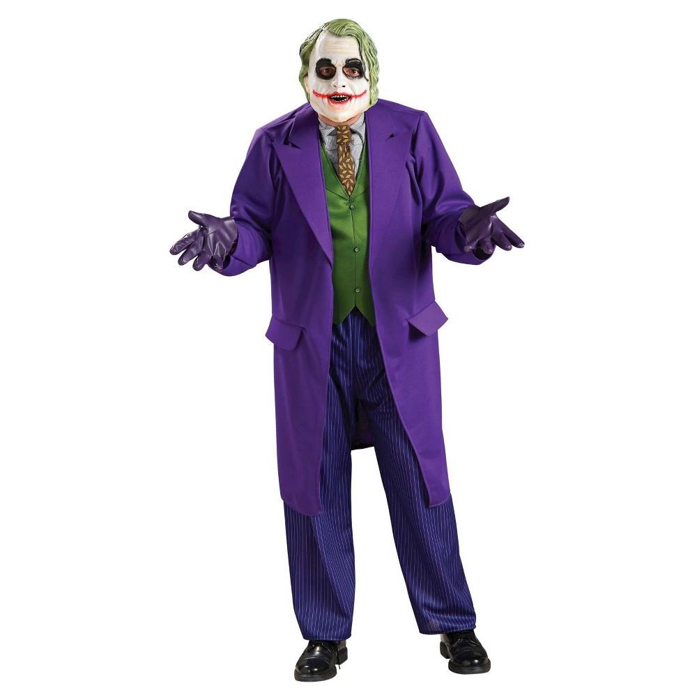 Men's Batman Dark Knight The Joker Deluxe Costume, Purple