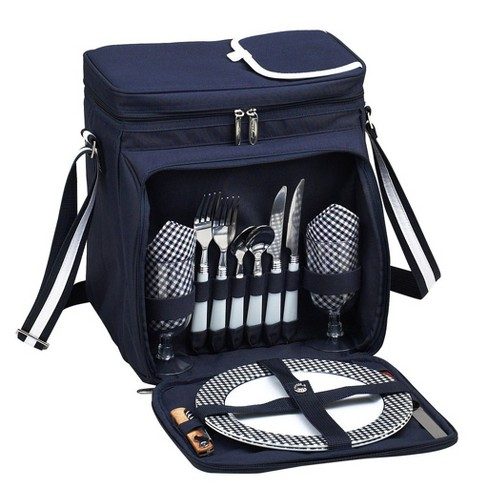 Picnic At Ascot Insulated Picnic Basket Cooler Fully Equipped With Service For 2 Target