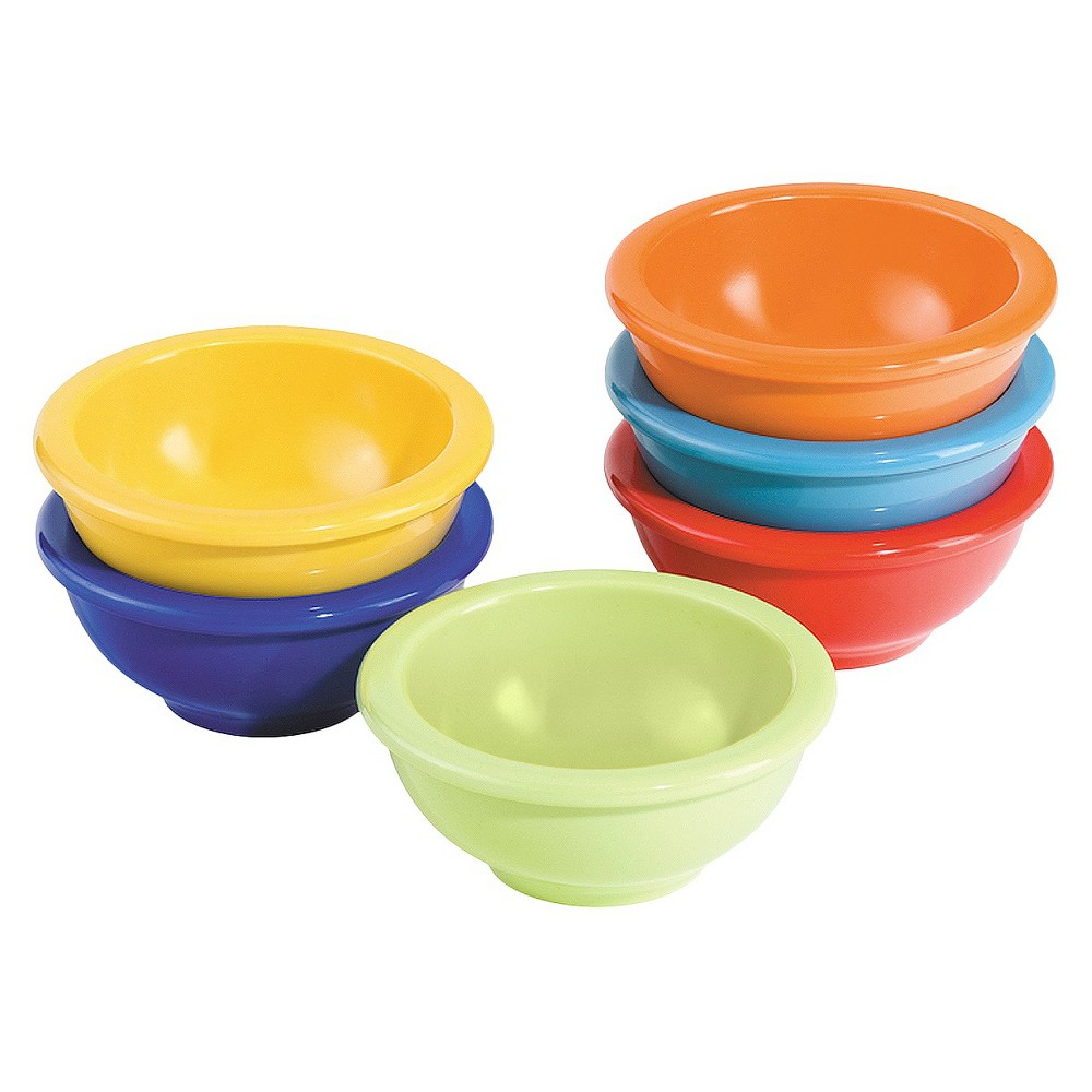 Image of Oggi 6 Piece Melamine Pinch Bowls, Assorted