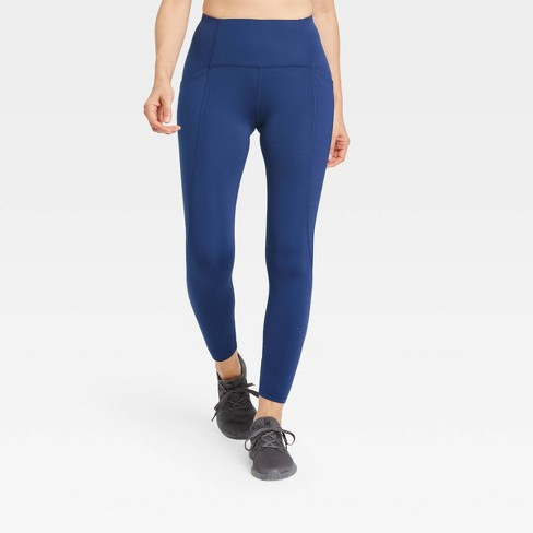 """Women's Sculpted Linear Laser Cut High-Rise 7/8 Leggings 25"""" - All in Motion™ - image 1 of 4"""