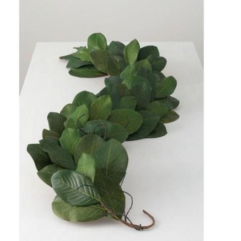 Sullivans Artificial Magnolia Leaf Garland 6 Green Target