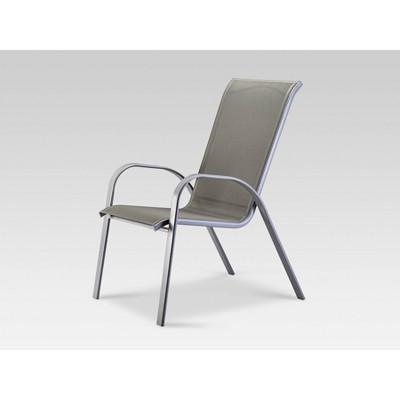 stack sling patio chair gray threshold target rh target com patio sling furniture patio sling chairs aluminum