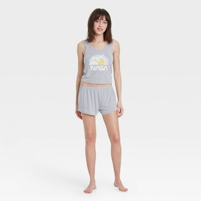Women's Cropped Tank Top and Shorts Pajama Set - Grayson Threads