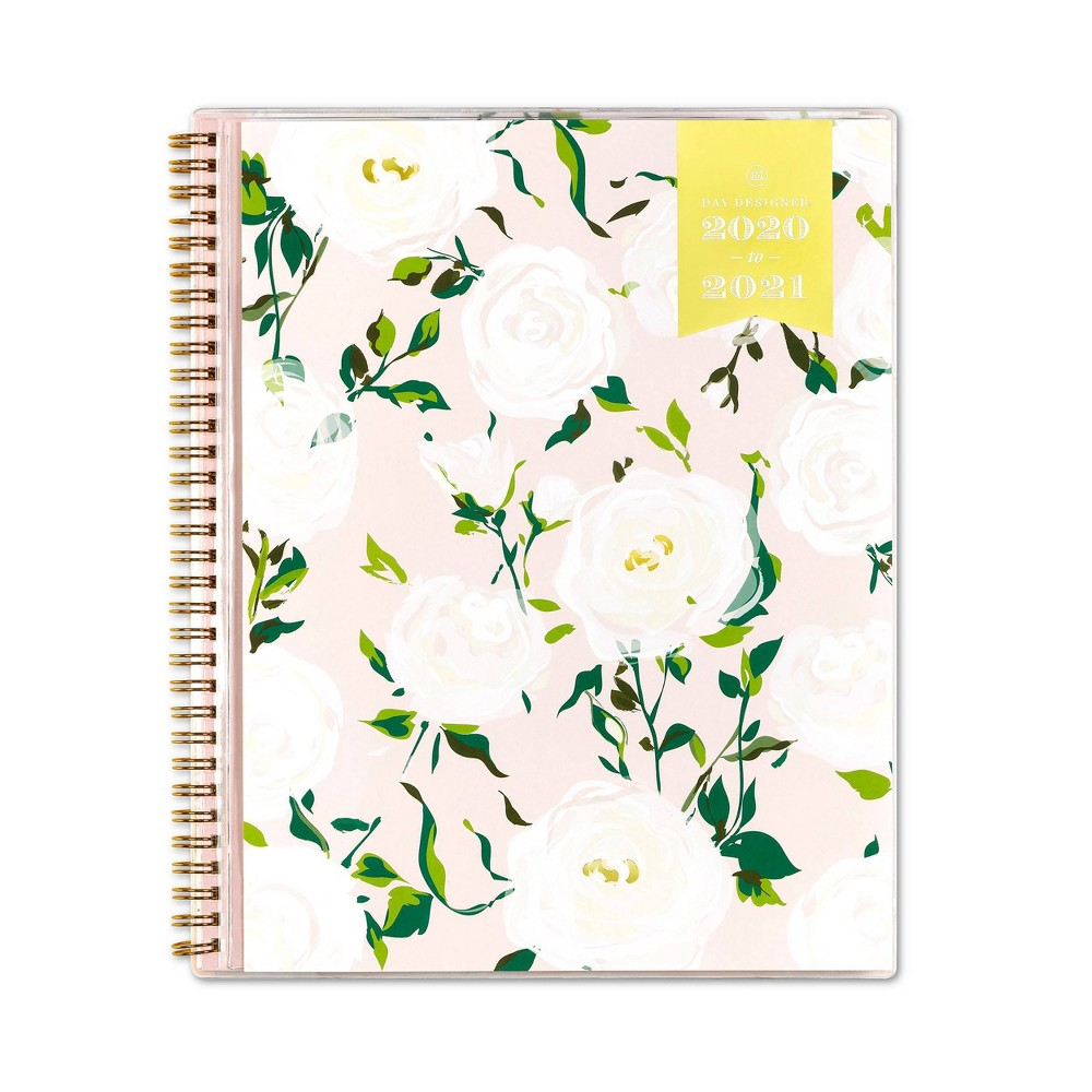 """Image of """"2020-2021 Academic Planner 8.5"""""""" x 11"""""""" Clear Pocket Cover Weekly Monthly Wirebound Coming Up Roses - Day Designer"""""""