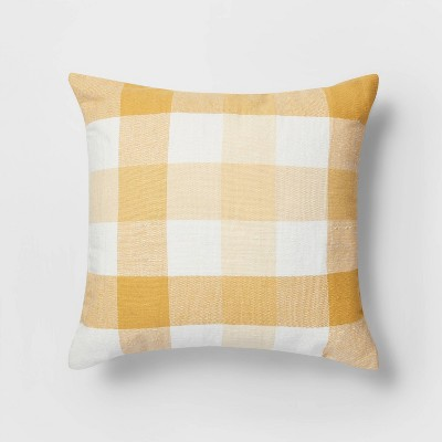 Square Check Pillow Yellow/White - Threshold™