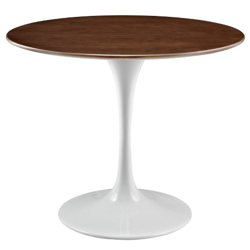 Lippa Round Walnut Dining Table - Modway - image 1 of 4