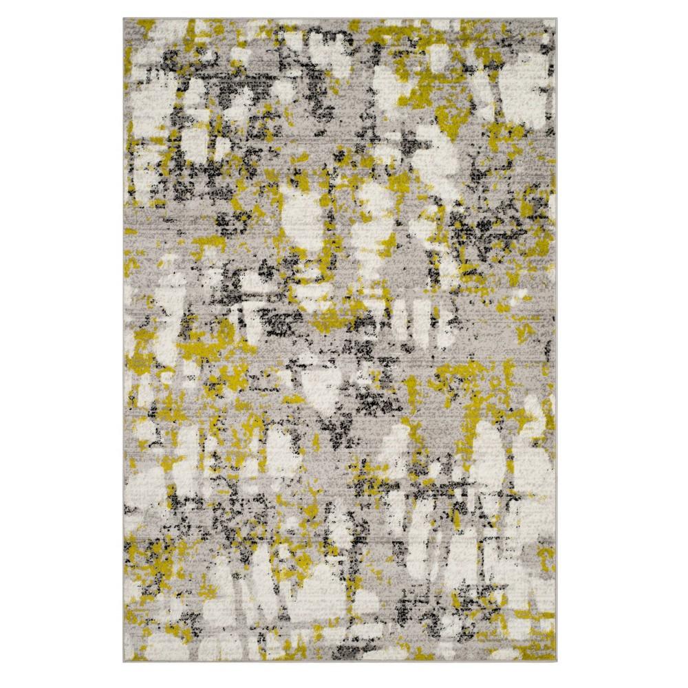 Gray Green Splatter Loomed Area Rug 5 1 X7 6 Safavieh