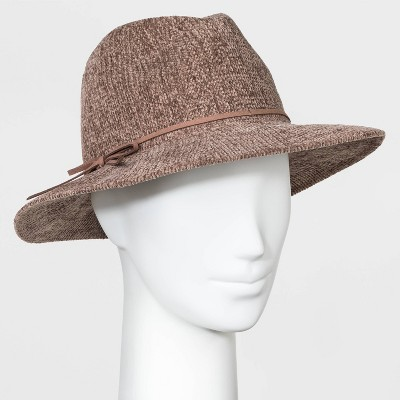 Women's Chenille Fedora Panama Hat - A New Day™ Tan One Size