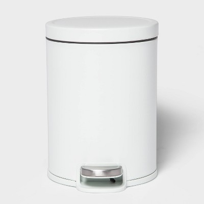 5L Round Step Trash Can White - Made By Design™