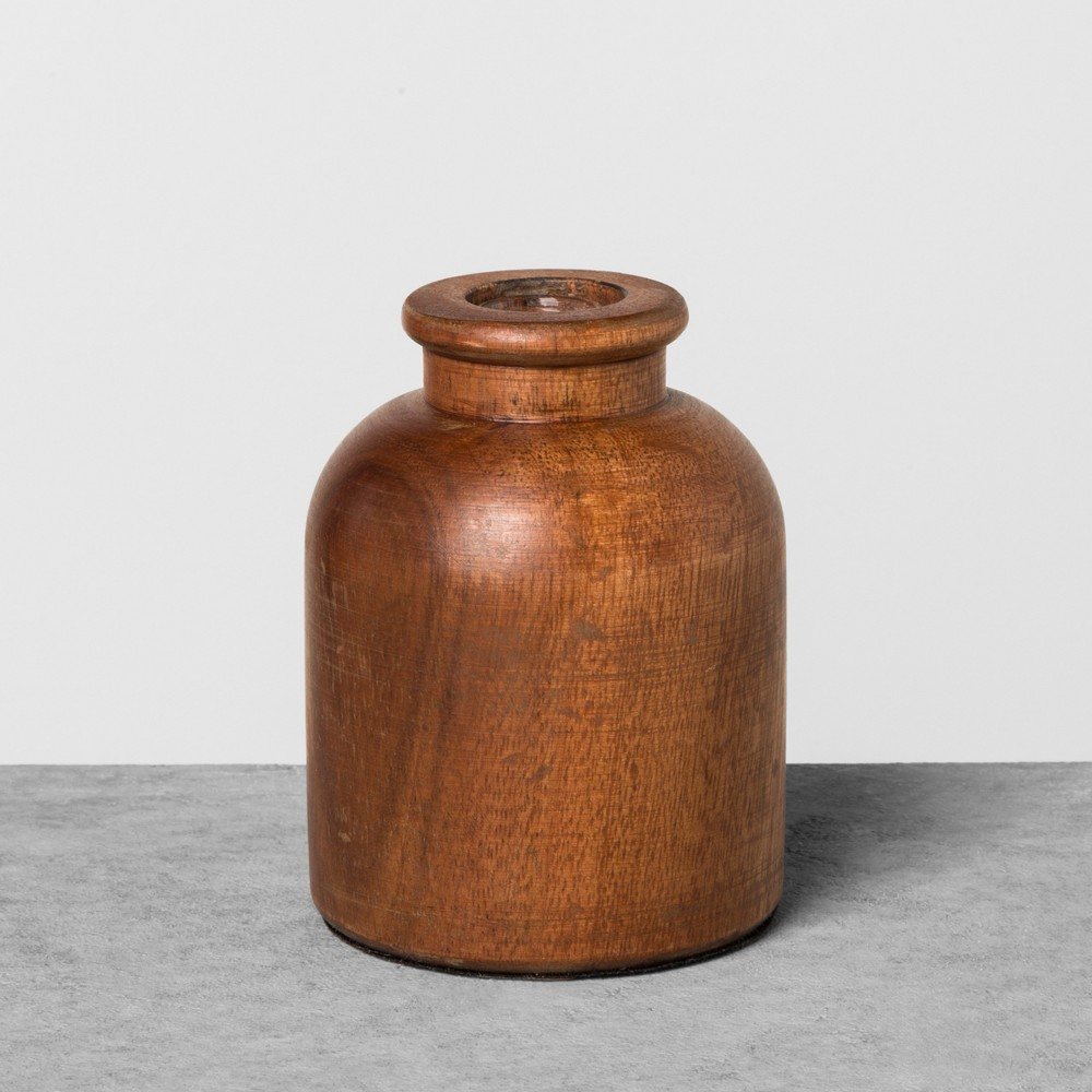 Wood Bud Vase Large - Hearth & Hand with Magnolia, Brown