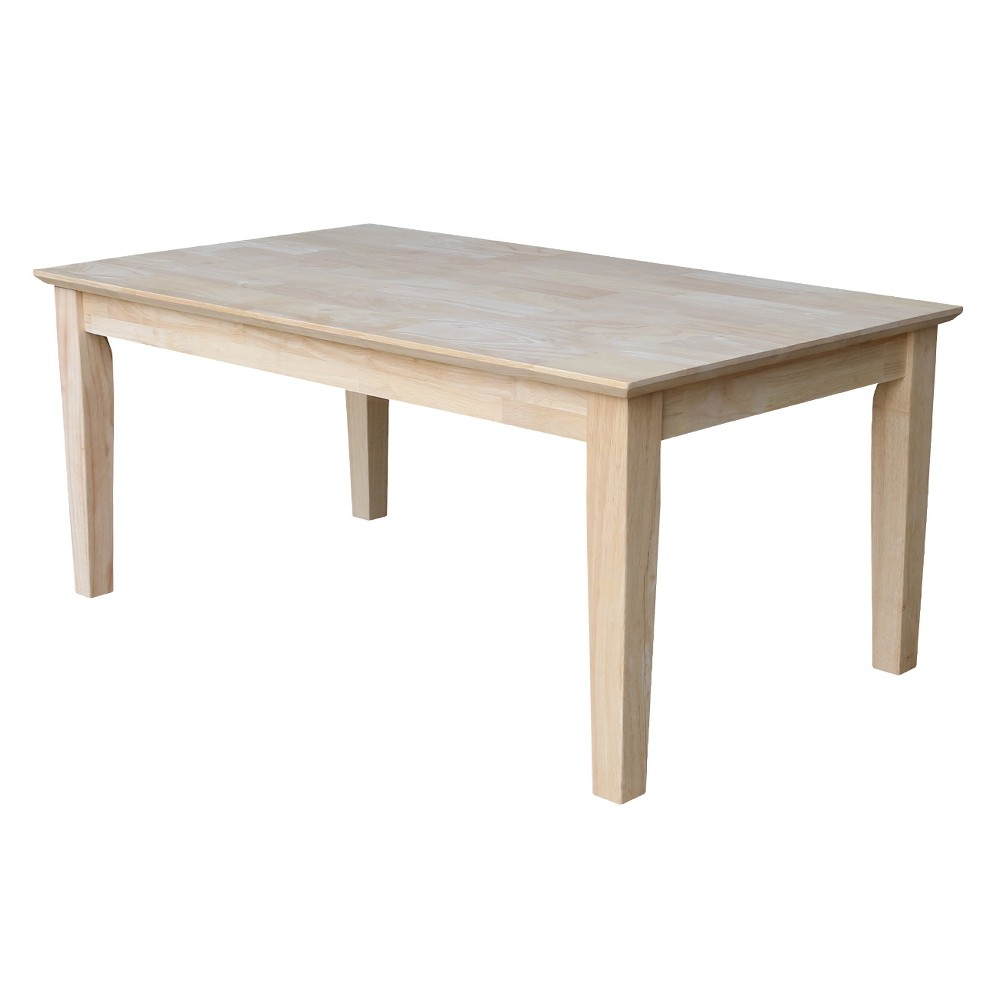 Shaker Tall Coffee Table - International Concepts, Wood