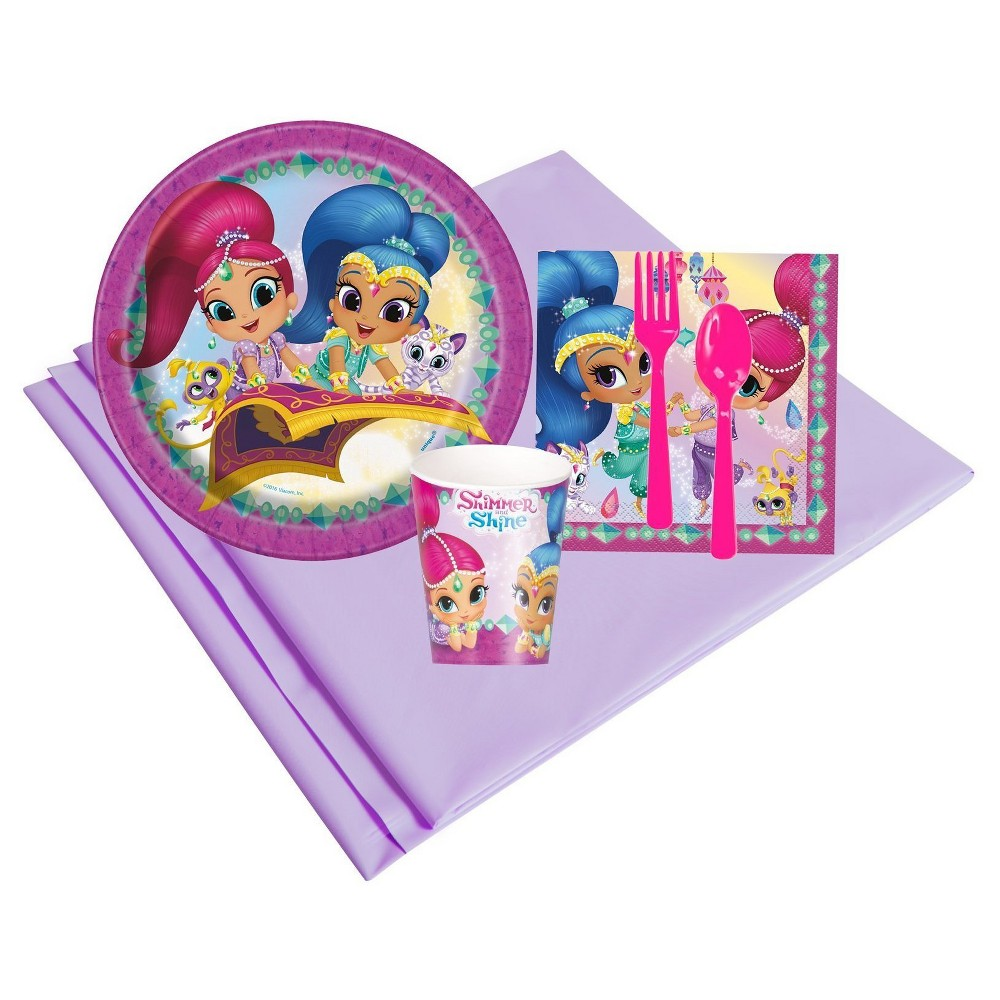 Shimmer and Shine 8 Guest Pink Party Pack, Multicolored