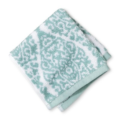 Washcloth Performance Texture Bath Towels And Washcloths White/Surf - Threshold™