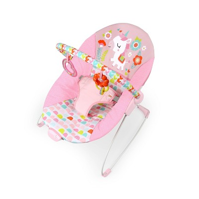 Bright Starts Fancy Fantasy Vibrating Baby Bouncer - Pink