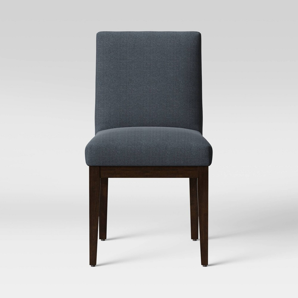 Edgartown Wood Frame Base Dining Chair Blue - Threshold