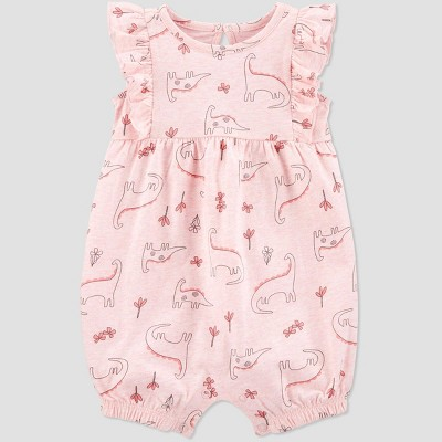 Baby Girls' Dino Romper - Just One You® made by carter's Light Pink Newborn