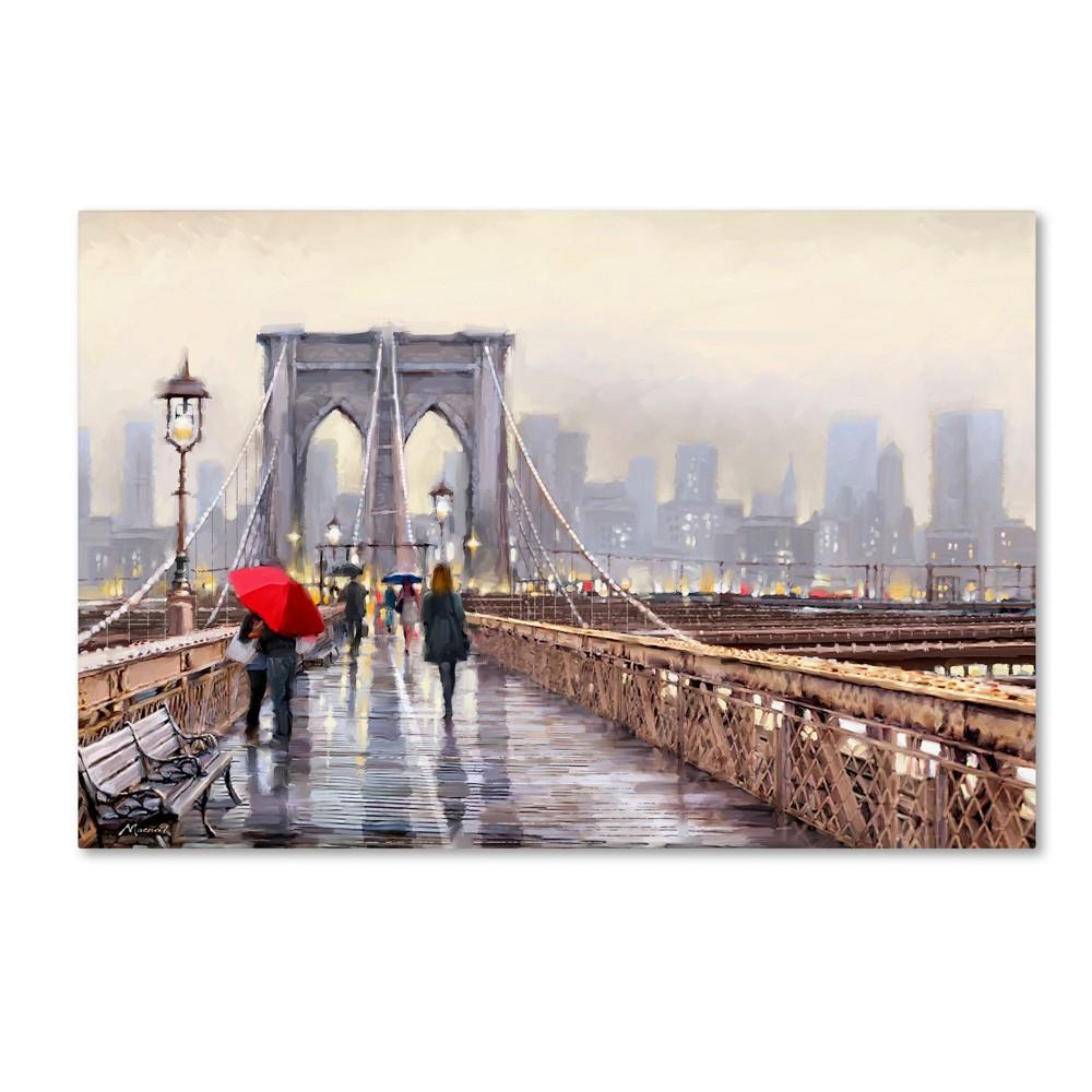 'Brooklyn Bridge' by The Macneil Studio Ready to Hang Canvas Wall Art, Multicolored
