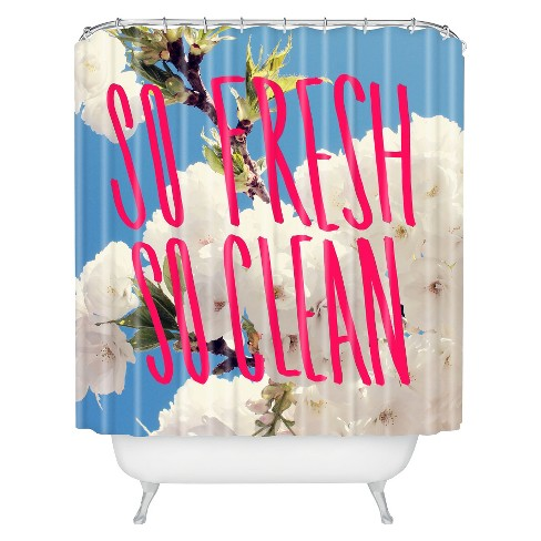 So Fresh So Clean Shower Curtain Pinkblue Deny Designs Target