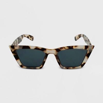 Women's Tortoise Shell Print Cateye Sunglasses - Wild Fable™ Brown