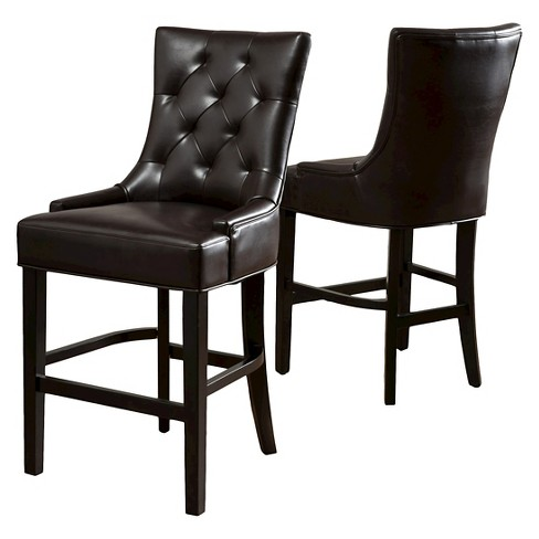 Amazing 26 Lyons Bonded Leather Counter Stool Brown Set Of 2 Christopher Knight Home Gmtry Best Dining Table And Chair Ideas Images Gmtryco